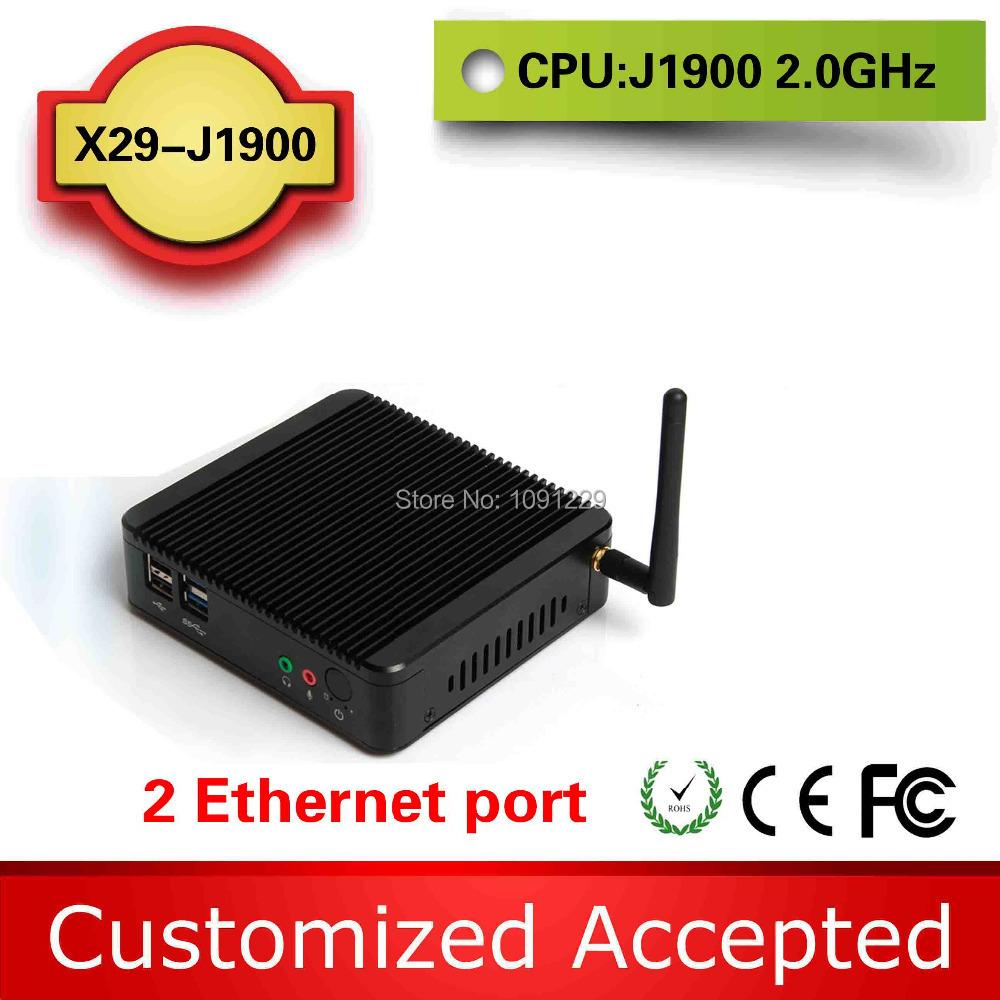 XCY Celeron Barebone Mini PC Dual Nic Intel J1900 2.41GHz CPU VGA+HDMI Support Trackball Window Micro PC Mini Computer(China (Mainland))