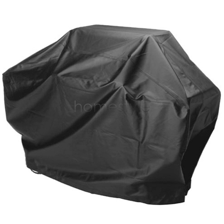 US Shipping Waterproof BBQ Cover Gas Barbecue Grill Protect Patio Black BBQ Cover 56.6''x23.8''x45.6''/ 145cm*61cm*117cm(China (Mainland))