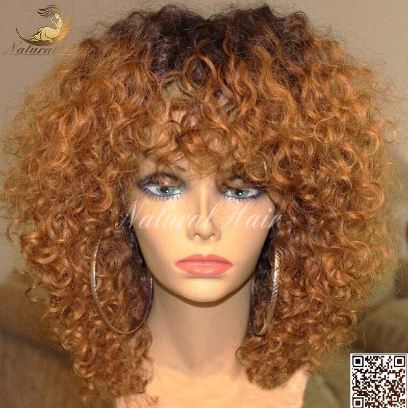 180% density Hot Glueless Full Lace Wig Curly Human Hair Brazilian Virgin Full Lace Kinky Curly Human Hair Wigs For Black Women