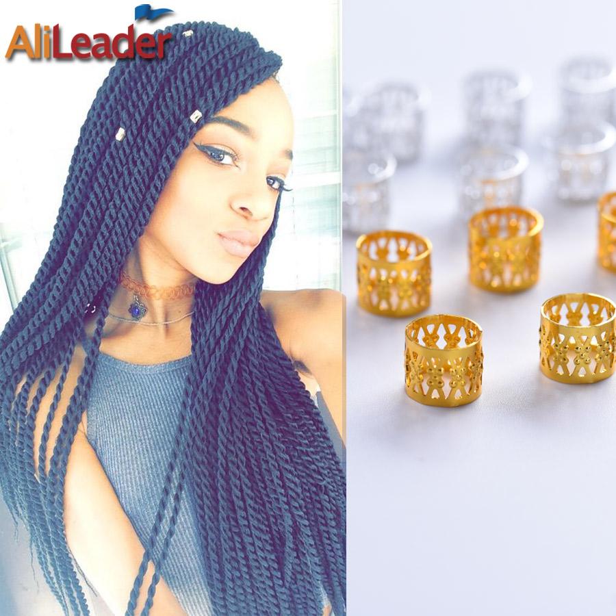 Free Shipping 100Pcs/Lot Dreadlock Beads Adjustable Cuff Ring 8MM Hole Aluminum Metal Tube Lock For Dreadlocks + 5Pcs Free Beads(China (Mainland))