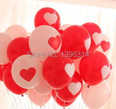 100piece/lot 12 inch heart latex balloons Proposal Wedding party decoration ballons romantic balloons(China (Mainland))