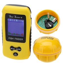 Portable Wireless Electronic Fish Finder with Sonar Sensor with Colorful Lcd Display ice Alarm fish finder Range Free Shipping(China (Mainland))
