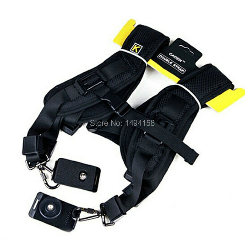 5pcs Black Portable Quick Double Shoulder Belt Strap Neck Strap for Canon Nikon Sony Fuji Pentax Sigma <font><b>Samsung</b></font> <font><b>DSLR</b></font> Cameras