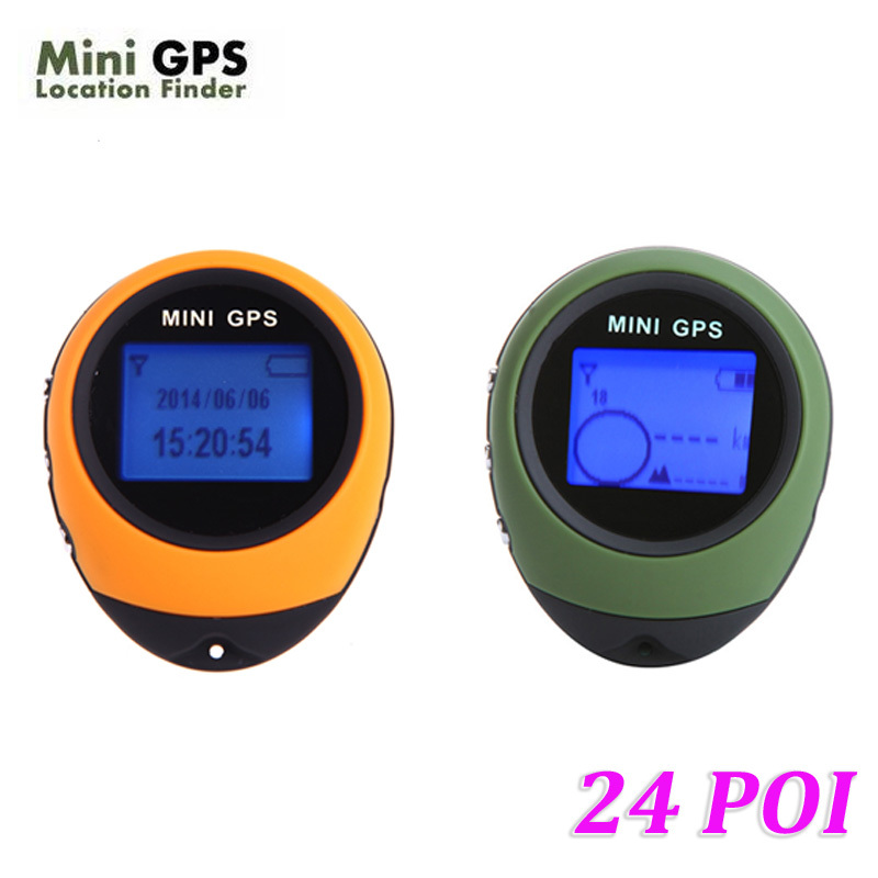 100% Original PG03 24 POI Mini GPS Receiver Navigation Tracker Handheld Location Finder Tracking with Compass for Outdoor Travel(China (Mainland))