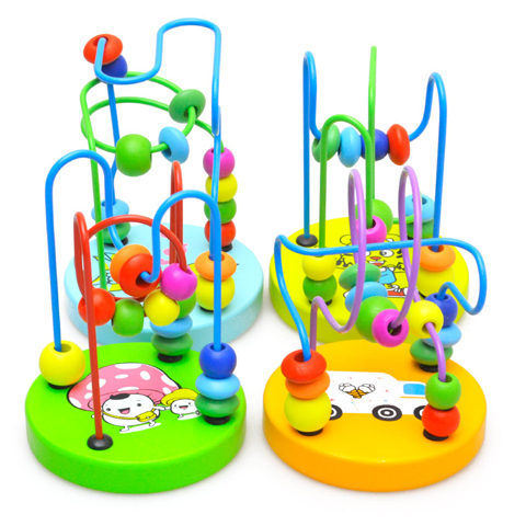 Cartoon mini around bead 0 - 1 3 years old baby toys infant child puzzle early learning toy Arithmetic Spring Imagine store