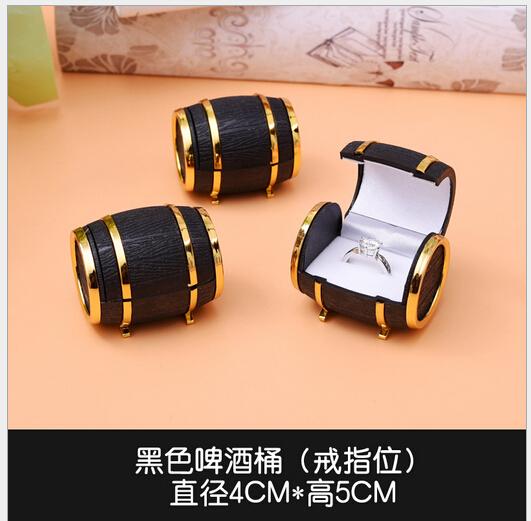 beer barrel type ring box jewelry box jewel case size 4*5cm(China (Mainland))