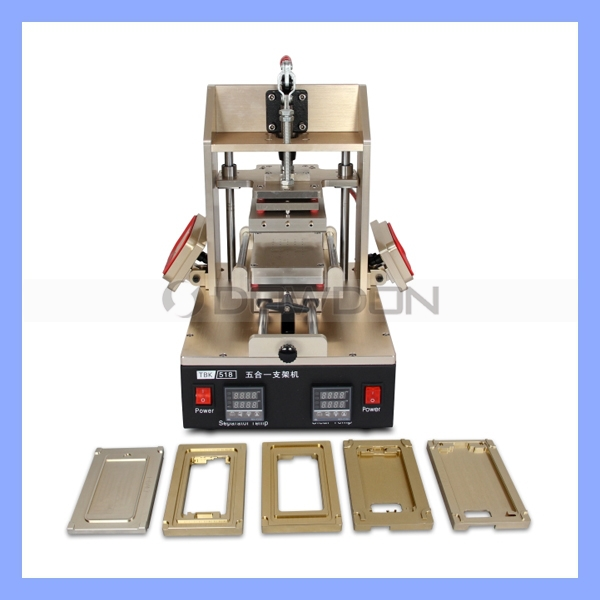 5 in 1 Phone Repair Machine Middle Bezel Separator + Frame Laminator + Vacuum LCD Screen Separator + Glue Remover + Preheater<br><br>Aliexpress