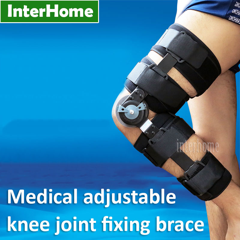 Фотография Medical Adjustable Knee Joint fixing Brace Fit for Knee Fractures Ligament Injury Provide Support Rehabilitation Exercises