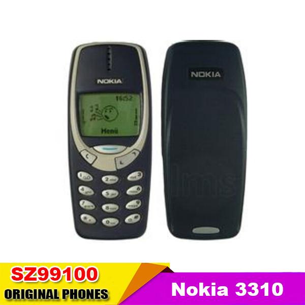 Original Nokia 3310 mobile phone GSM 900/1800 Dual Band Russian menu Multi-languages Support Refurbished(China (Mainland))