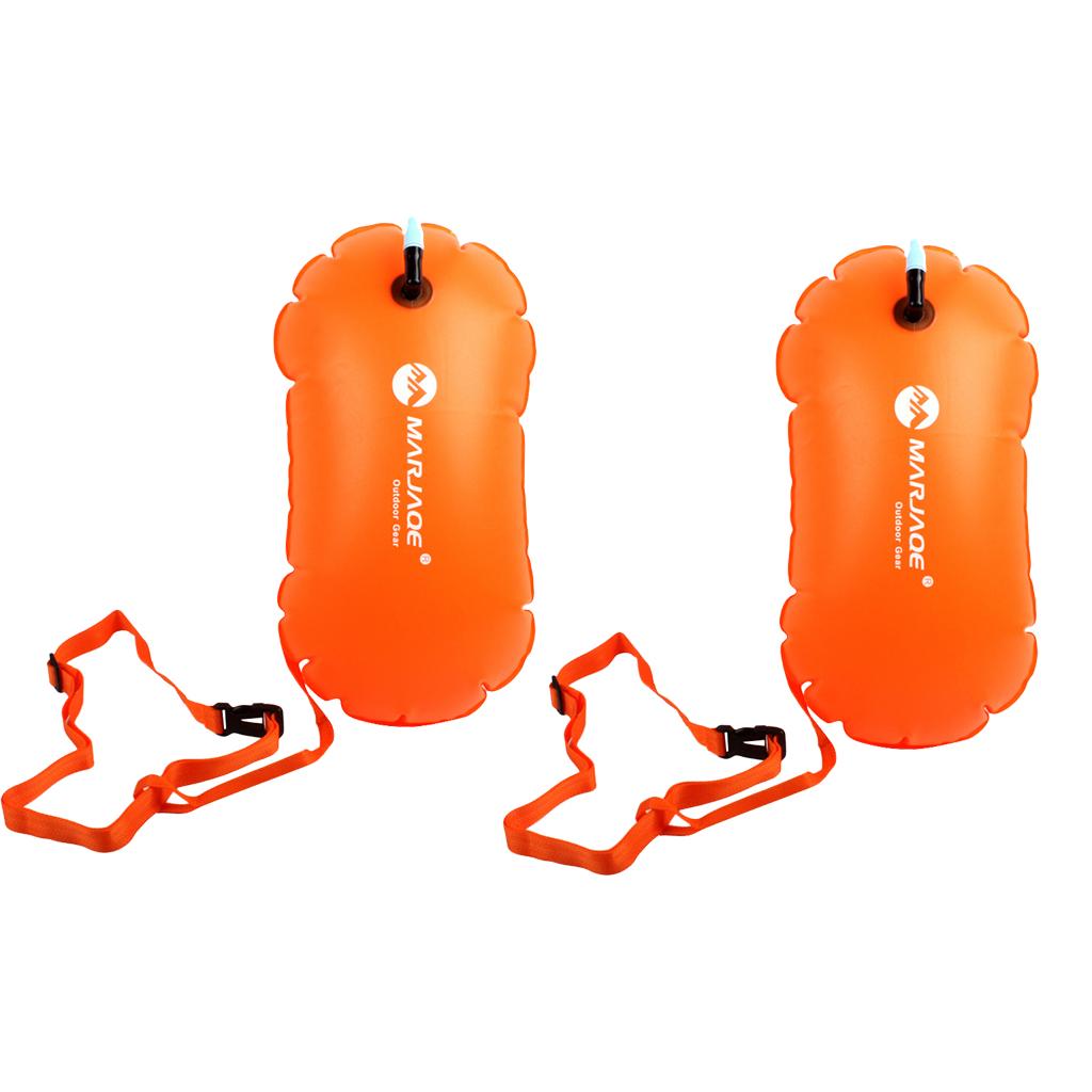 2Pcs Waterproof Dry Bag Ultralight Swim Buoy for Open Water Triathletes Kayak Snorkeling Surfers Beach Swimming Boating Accesso