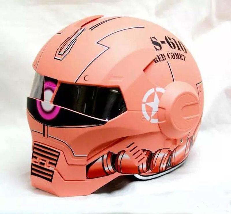 NEW style 610 Orange MASEI motorcycle helmet IRONMAN Iron Man helmet open face helmet casque motocross(China (Mainland))