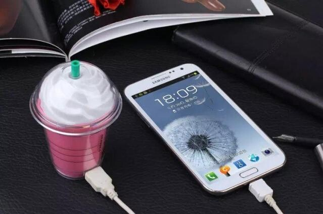 Cell Phone Chargers New Fashion 5200Mah Portable Power Bank Cup Design For Mobile Phone External Backup Battery Charger