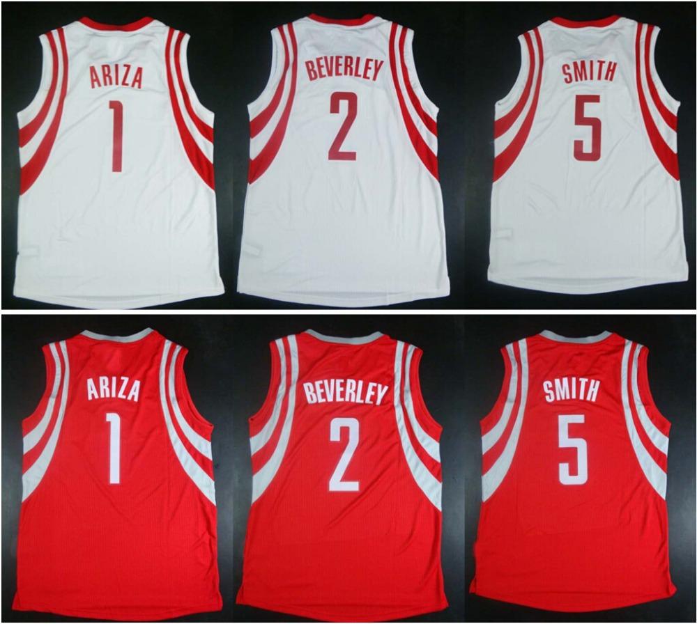 Free Shipping #1 Trevor Ariza #2 Patrick Beverley #5 Josh Smith Jersey 100% Stitched 2015 New Cheap Men's Basketball Jerseys(China (Mainland))