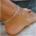 New Ankle Bracelet Summer Style Turquoise Beads Chain On Foot Anklet Jewelry Bracelet On A Leg