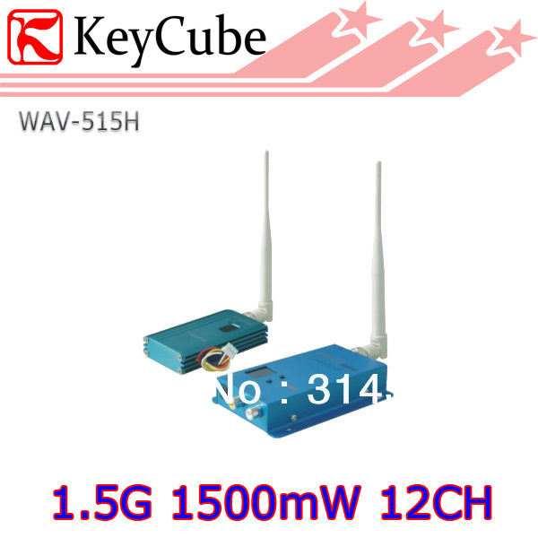 1.5G Wireless 12CH transmitter and receiver wireless kit AV sender 1500mW wireless device Free Shipping(China (Mainland))