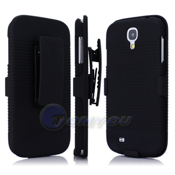 New Black Belt Clip Stand Holder Holster Hard Cover Case For Samsung Galaxy S4 i9500 Galaxy SIV Free Shipping