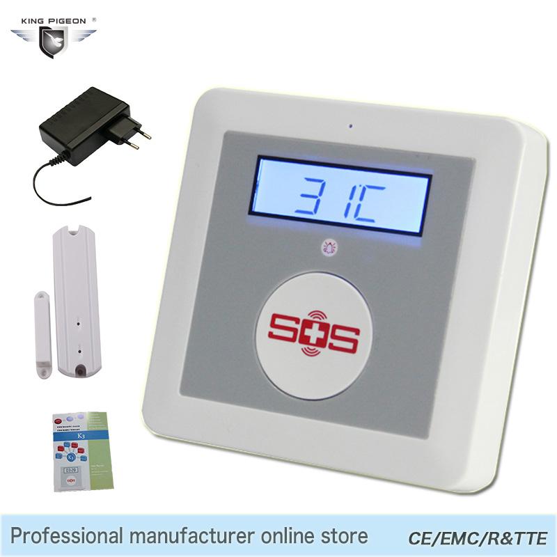 Smart Alarm Wireless Android IOS APP Remote Control GSM SMS Alarm System Home Security Elderly Helper SOS Button Door Sensor K3(Hong Kong)