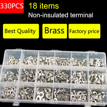 330pcs/lot Assorted Non-Insulated Ring Fork U-type Terminals Assortment Kit Electrical Crimp Spade Set  Lug Cable Wire Connector(China (Mainland))