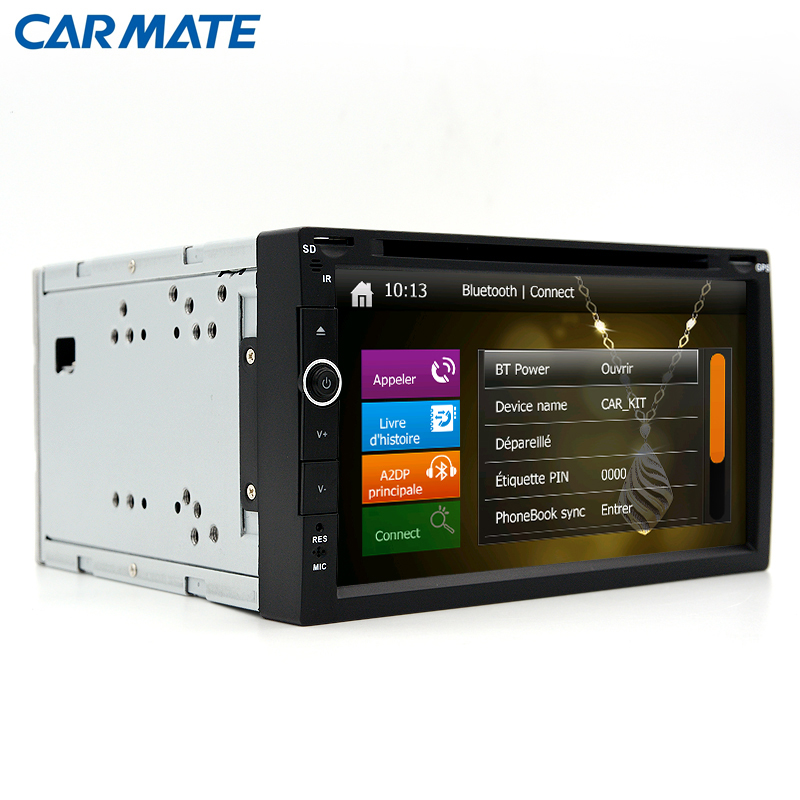 New 2 din Car DVD Player Radio GPS Navigation Universal Bluetooth Double din Touch Screen Car Stereo RDS analog TV(China (Mainland))