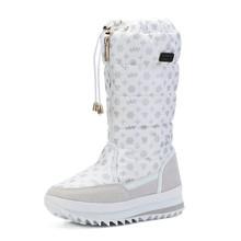 Frauen stiefel winter schuhe frauen plattform dicken plüsch warme wasserdichte hohe schnee stiefel botas mujer größe 35-42(China)