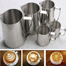 Buy Fashion Coffee Stainless Mug Steel Espresso Coffee Cup Pitcher Craft Latte Milk Frothing Jug Coffee Sets for $3.44 in AliExpress store