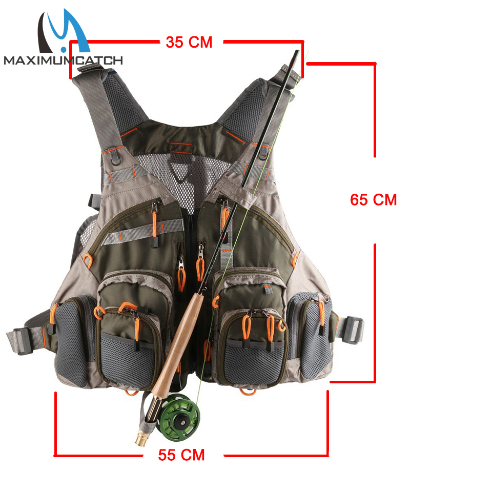 Army Green Fishing Vest  Multi Function Mesh Vest With Many Pocket Outdoor Fly Fishing Vest