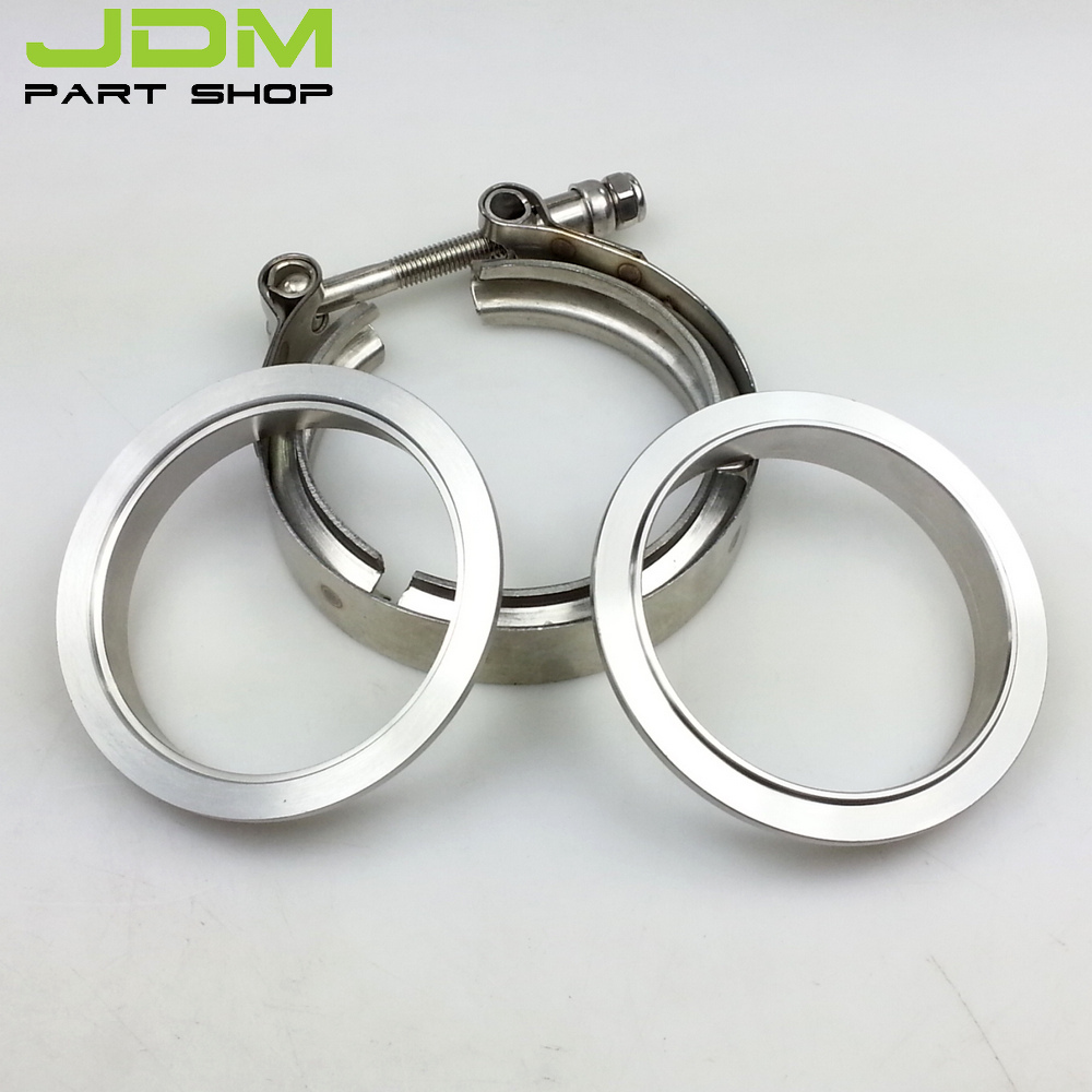 """Universal parts 2.5"""" V Band clamp flange Kit Stainless Steel For turbo exhaust downpipe(China (Mainland))"""
