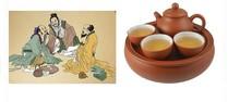 [Purple] porcelain tea set travel portable outdoor travel Quik Cup Specials