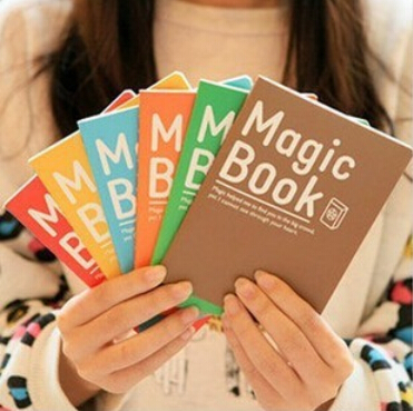 Гаджет  10 pcs/lot A6 Magic Book Mini Notebook Exercise Book for kids Students School Supplies Materials Prize Gifts Free shipping 045 None Офисные и Школьные принадлежности