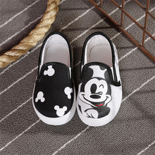 2016 Cute Canvas Girls Kids Shoes Babys Boys Cartoon Flats High Quality Walking Shoes Korean Style Spring Autumn(PDX072-11)(China (Mainland))