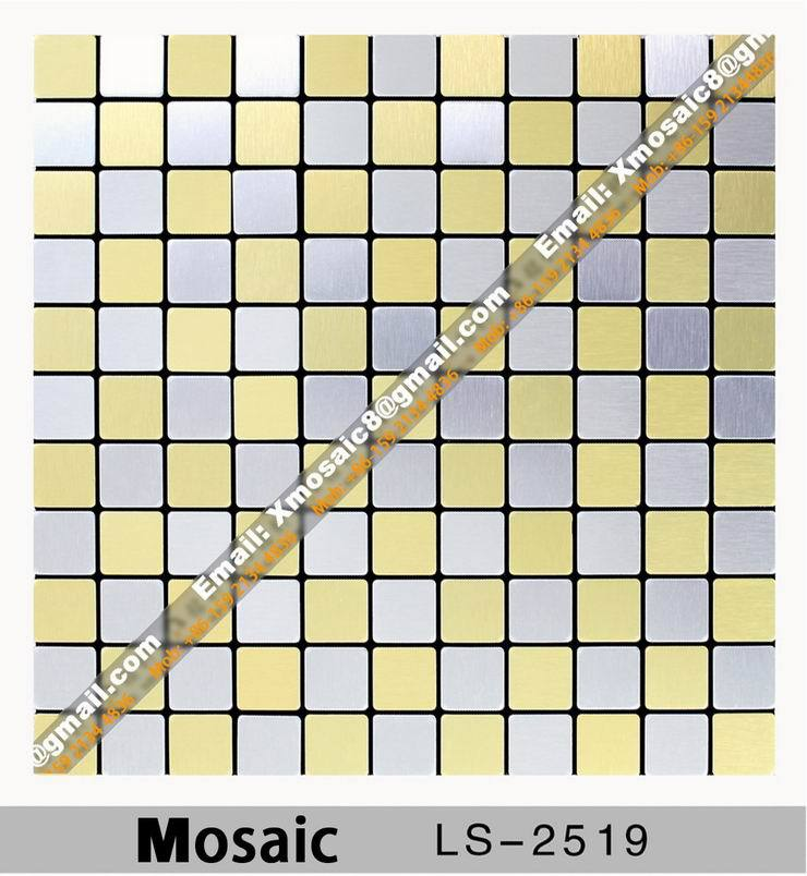 Aluminum Wall Mosaic #LS-2519; Interior Ceiling and wall decoration materials; Size is 316MMX316MM per Piece<br><br>Aliexpress