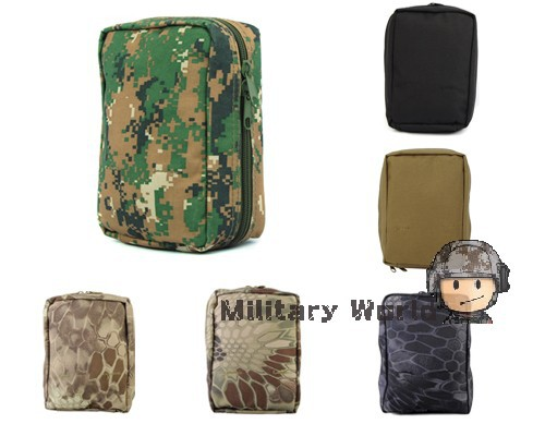 Airsoft Molle Military First Aid Kit Tactical Medical Pouch High Quality Nylon Material Bag Black/Tan/Typhon/NOMAD Camo(China (Mainland))