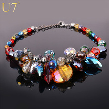 Buy U7 Luxury Statement Necklace Women Valentines Gift Fancy Big Crystal Necklace Boho Maxi Necklace Chokers Necklaces N502 for $14.98 in AliExpress store