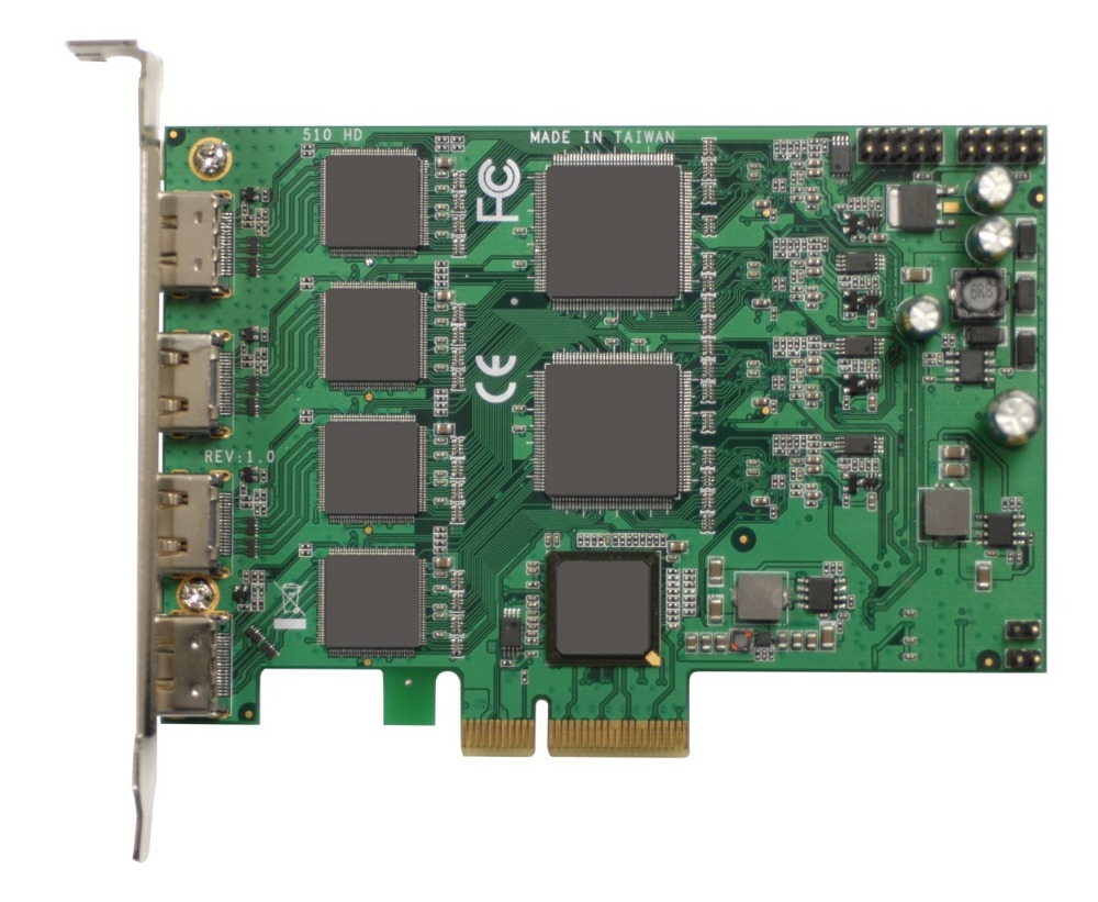 PCI Express HD Video Capture Card 1080p - 4 Channel HDMI Real Time(China (Mainland))