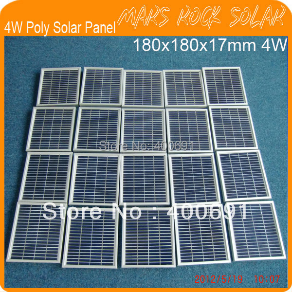 4W 18V Small Power Polycrystalline Solar Panel Module with Nice Appearance, Reliable Parameter, Long lifecycle, Hail Storm Proof<br><br>Aliexpress