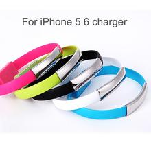Brand New Bracelet Mobile Phone Cables For Apple iPhone 5 5S 6 6S Plus iPad Cable