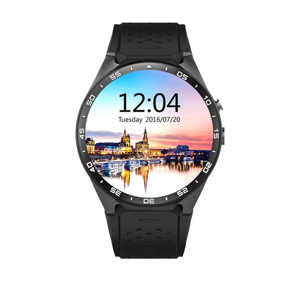 Android 5.1 3G Smart Watch Kingwear KW88 Smartwatch PK Finow X5 X61.39''Amoled 400*400 Calling 2.0MP Camera Pedometer Heart Rate