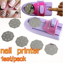 Lower Price1set/pack DIY Pattern Printing Manicure Machine polish Stamper Tool Set Nail Art Printer Diy Color Acrylic Paint Tips(China (Mainland))