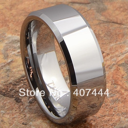Free Shipping!Wholesales USA Hot Sales E&amp;C Jewelry Tungsten Ring Mens Wedding Band Shiny Silve Plain Mens&amp;Womens Bridal Jewel<br><br>Aliexpress