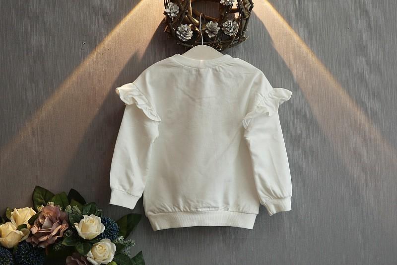 Скидки на Малыш девушка одежда новая осень девушка одежды цветок печатными буквами и шерсть юбка + жемчужина 2-7 т сетки