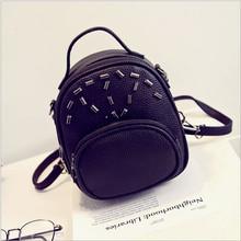 Pop 2016 Summer Newest Mini Rivet Backpack Women Multiple Garments Bag Girl Street Casual Walk Date Bag Bolsa Feminina M0094(China (Mainland))