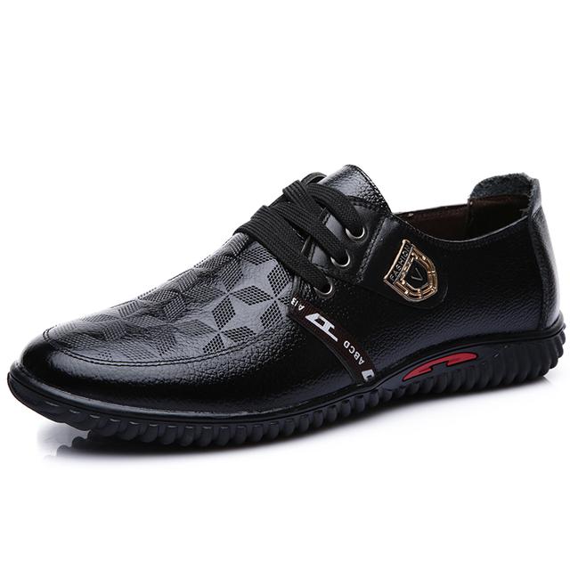 2015 новый натуральная кожа мужские оксфорды качество марка британский стиль бизнес ...