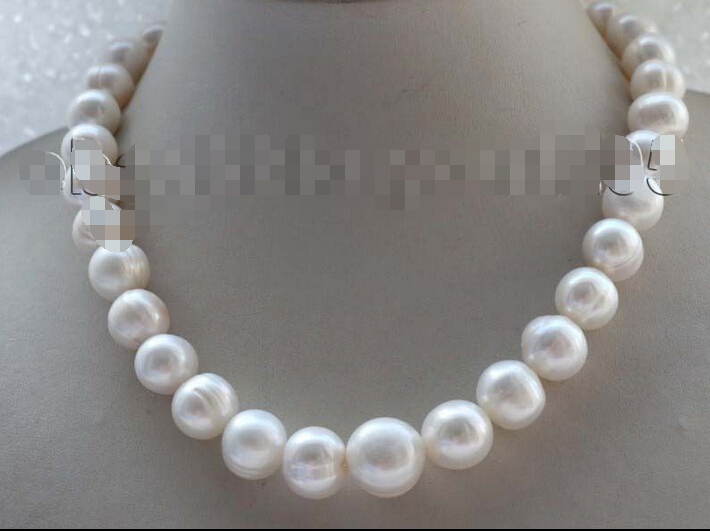 FREE shipping&gt;&gt;&gt; &gt;&gt;17.5 Genuine Natural 11-15mm White round Pearl Necklace #f1815!<br><br>Aliexpress
