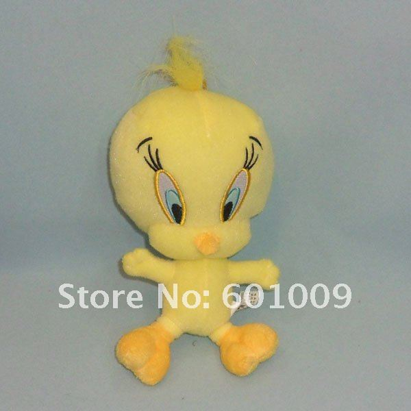 """Free Shipping Cute Child Tweety Bird Plush Doll Kid Collection Toy 7"""" New(China (Mainland))"""