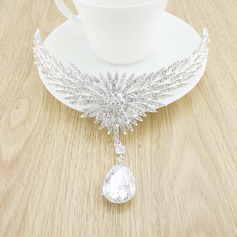 Crown Neacklace Earing Sets FLOWER Crystal Bridal Hair Jewelry Wedding