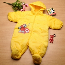2015 New Winter Down Outerwear Coat Baby Girl Boy Coat for Newborn Bodysuit Snowsuit Infant Costume for 3-18 Month Years Old(China (Mainland))