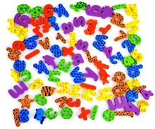42pcs/set (26 Letters + 10 Numbers+6 animal ) water  stickers foam letters bath animals toy  children Bath toys (China (Mainland))