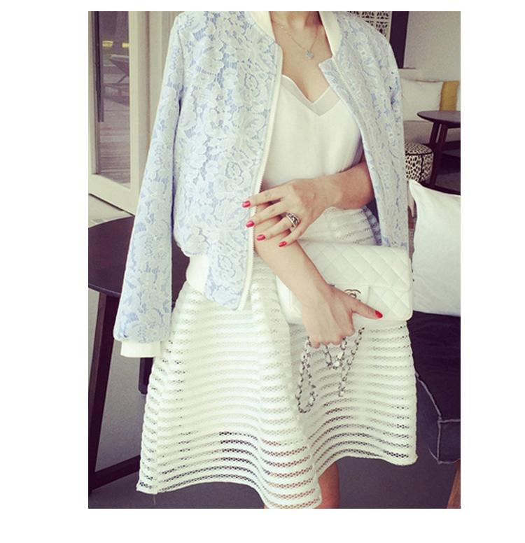 Американский одежда новая коллекция весна мода пушистые юбки девушки тонкие полые из полосы кружева юбки юбки женщин для молодых девушек