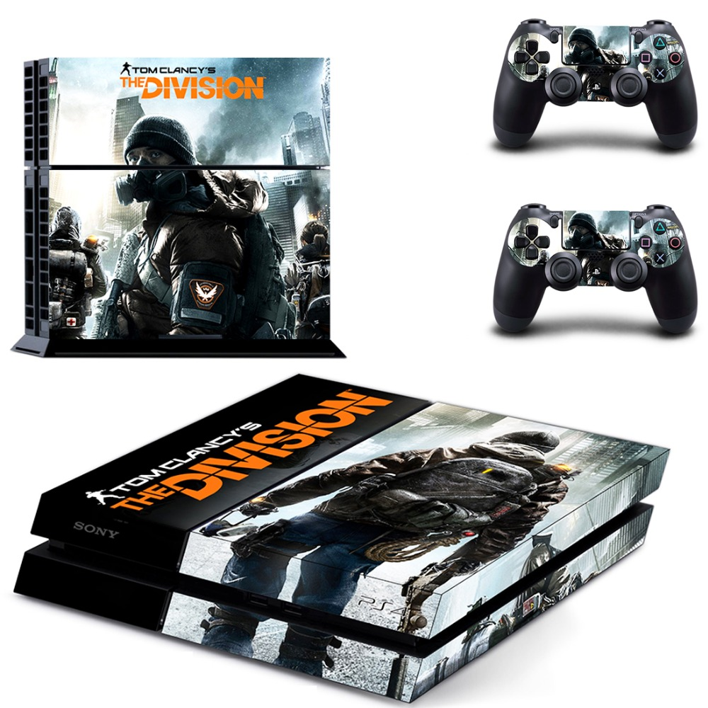 PS4 Skin Decal Sticker of Tom Clancy's The Division For PlayStation4 Console and 2 controller skins