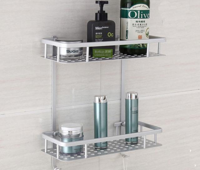 Estantes de aluminio para ba o for Colgador jabon ducha